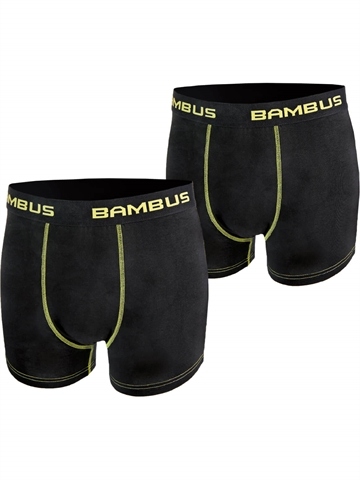 Boxer Shorts - 93% Bambus - Sort