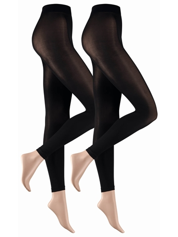 Leggings - Camano 3D everyday Leggings 2-PAK - Sort