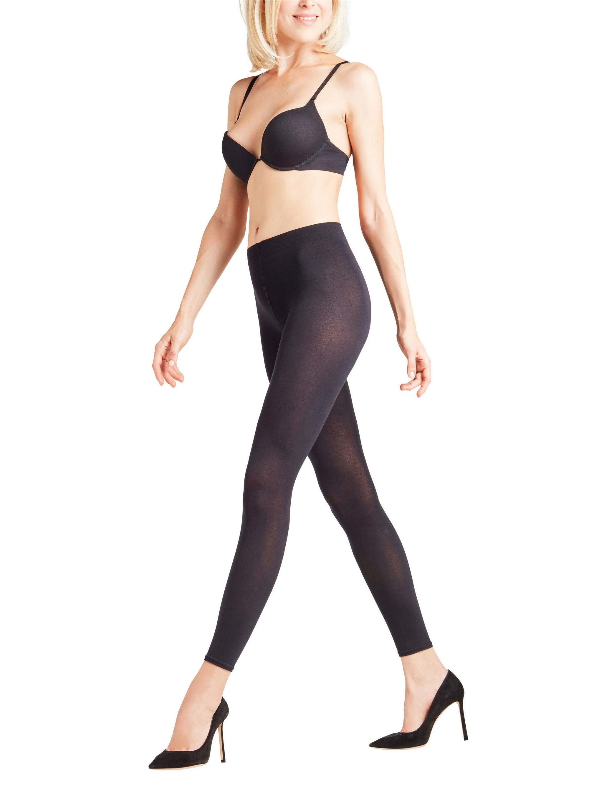 Leggings - Falke Cotton Touch - Sort