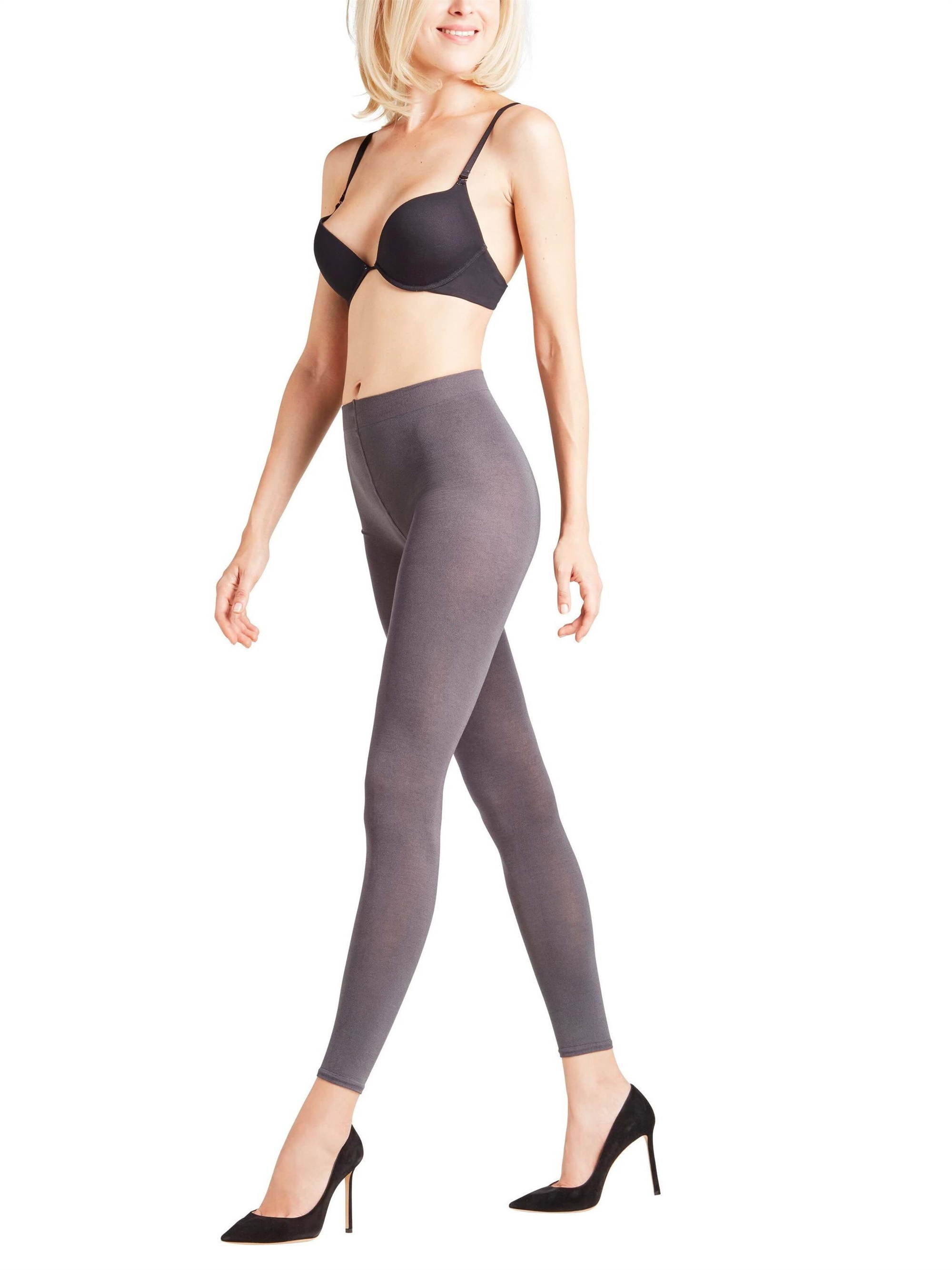 Leggings - Falke Cotton Touch - Antracitmix