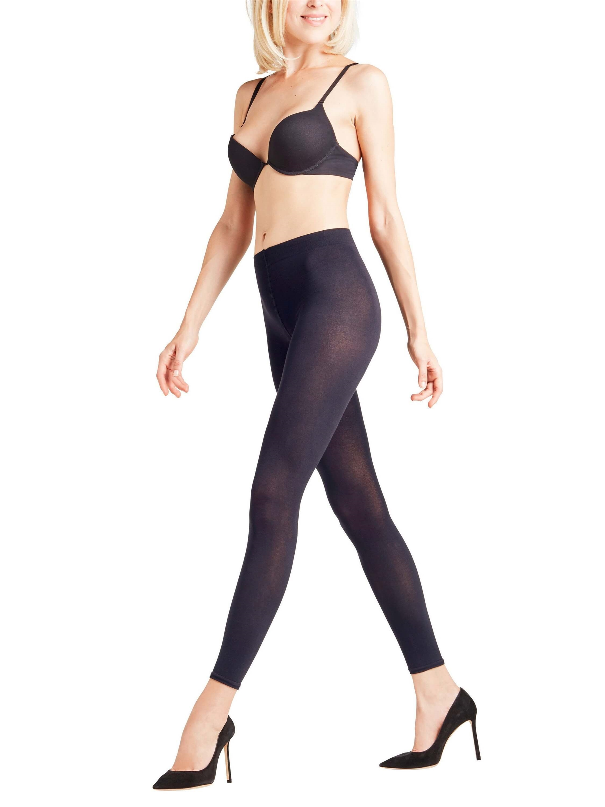 Leggings - Falke Cotton Touch - Marine