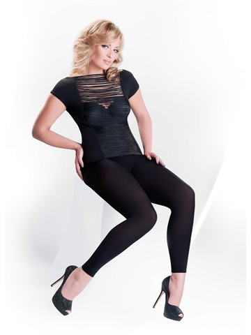 Leggings - Microfiber - 100 den - Plussize - Sort
