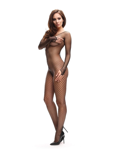 Body stockings i net - MissO - Sort