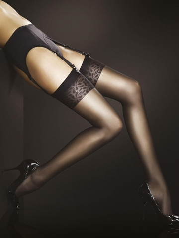 Stockings - Adora - Sort