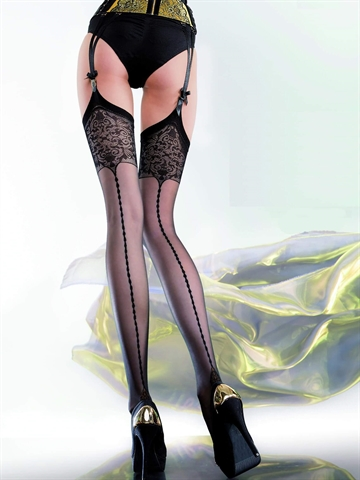 Stockings - Edvige - Sort