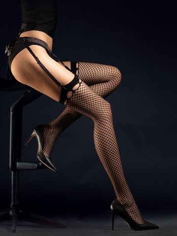 Stockings i net - Burlesque - Sort
