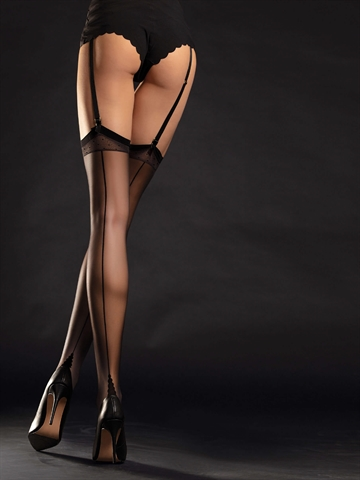 Stockings - Diva - Sort