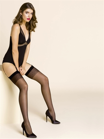 Stockings - Calze Adora - Sort