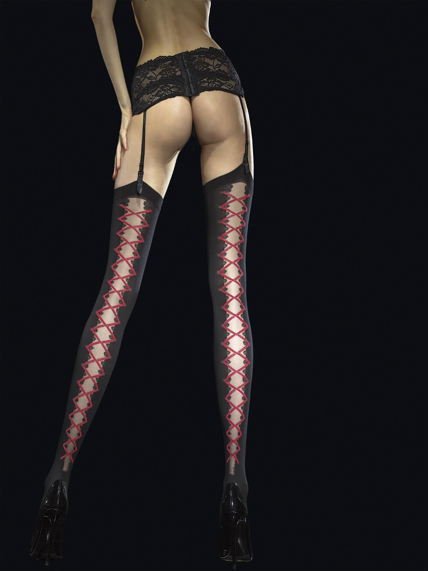Stockings Valentis - Sort